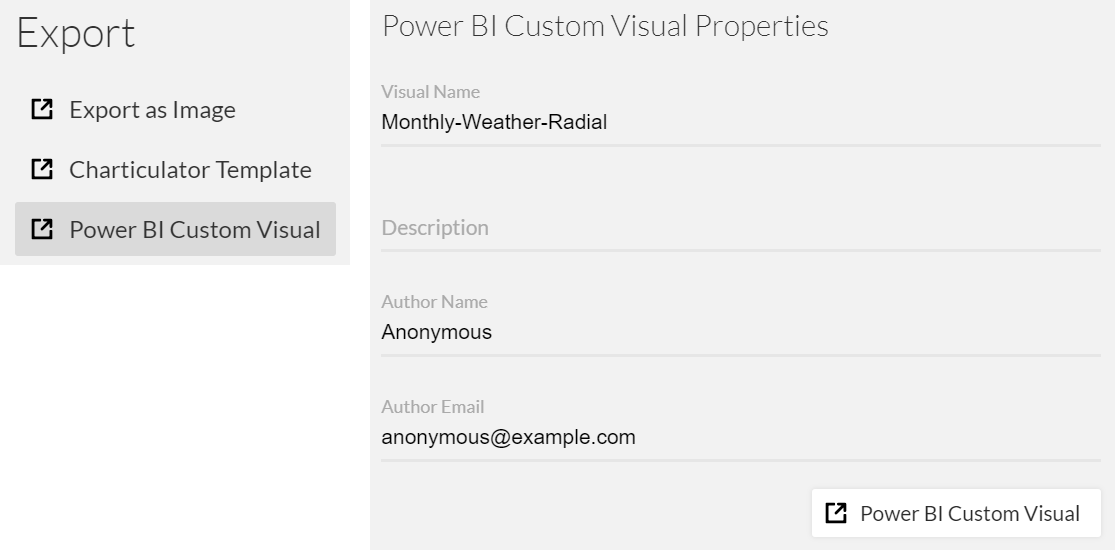 Export as Power BI Custom Visual